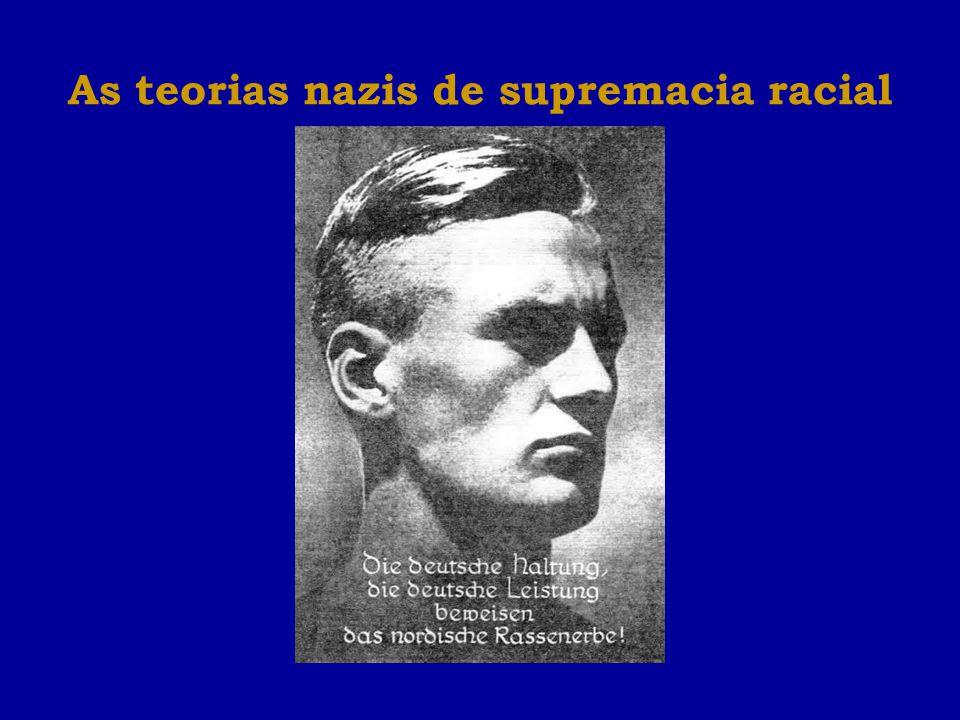 As teorias nazis de supremacia racial