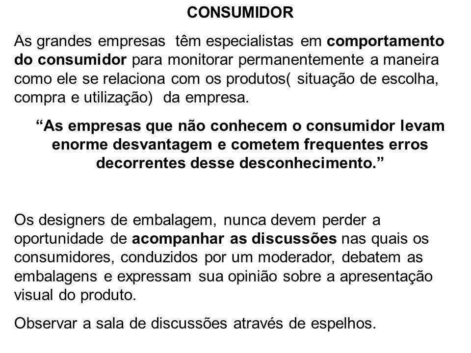 CONSUMIDOR As grandes empresas têm especialistas em comportamento do consumidor para monitorar permanentemente a maneira como ele se relaciona com os
