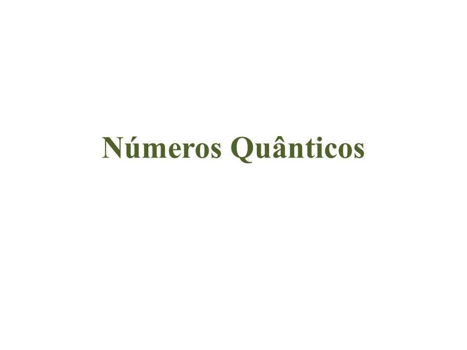 As orbitais atómicas são caracterizadas através dos chamados números quânticos, que fornecem informação sobre a energia, tamanho, forma e orientação da orbital.