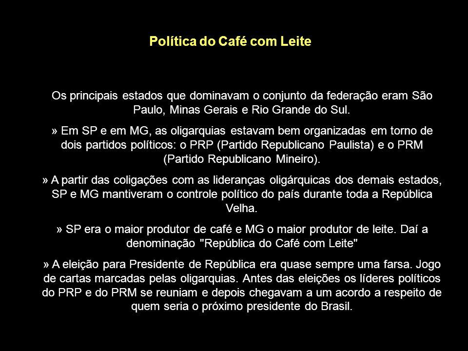 Política dos Governadores - Surge no governo do presidente Campos Sales (1898); - Sistema de alianças entre as oligarquias estaduais e o governo feder