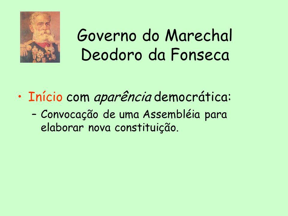 MILITARES NO PODER REPÚBLICA DA ESPADA: presidentes militares. 1 2 Deodoro Floriano