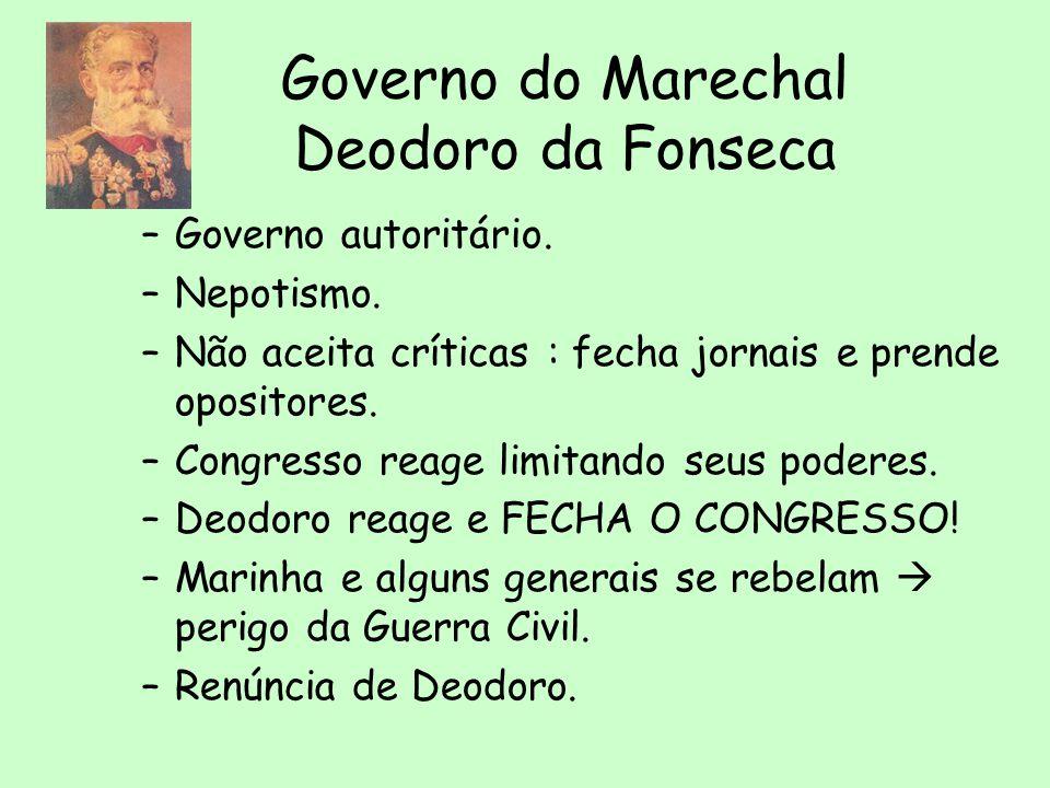 Encilhamento: o primeiro pacote econômico Articulador: Rui Barbosa, Ministro da Fazenda
