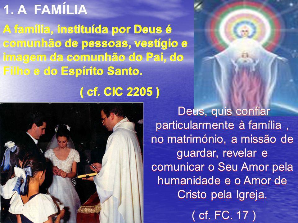 Ao criar a humanidade do homem e da mulher à sua imagem ( …)Deus inscreveu nela a vocação ao amor e à comunhão e, portanto, a capacidade e a responsab