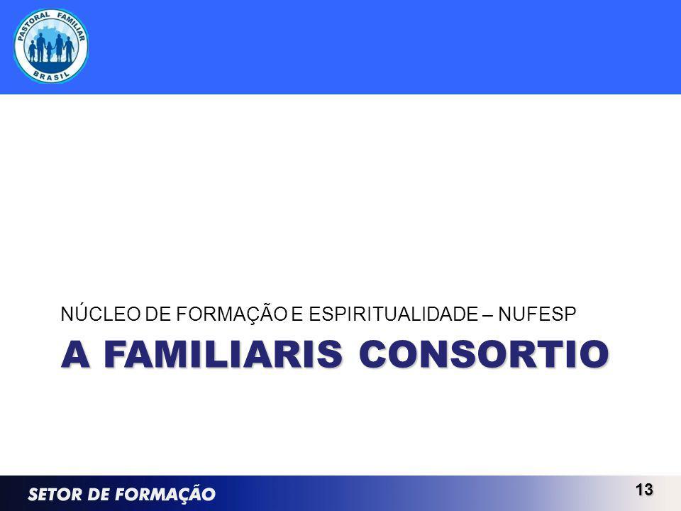 A FAMILIARIS CONSORTIO NÚCLEO DE FORMAÇÃO E ESPIRITUALIDADE – NUFESP 13