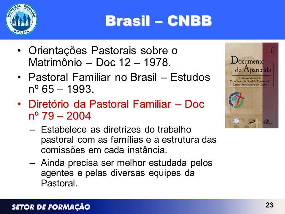 Brasil – CNBB Orientações Pastorais sobre o Matrimônio – Doc 12 – 1978.