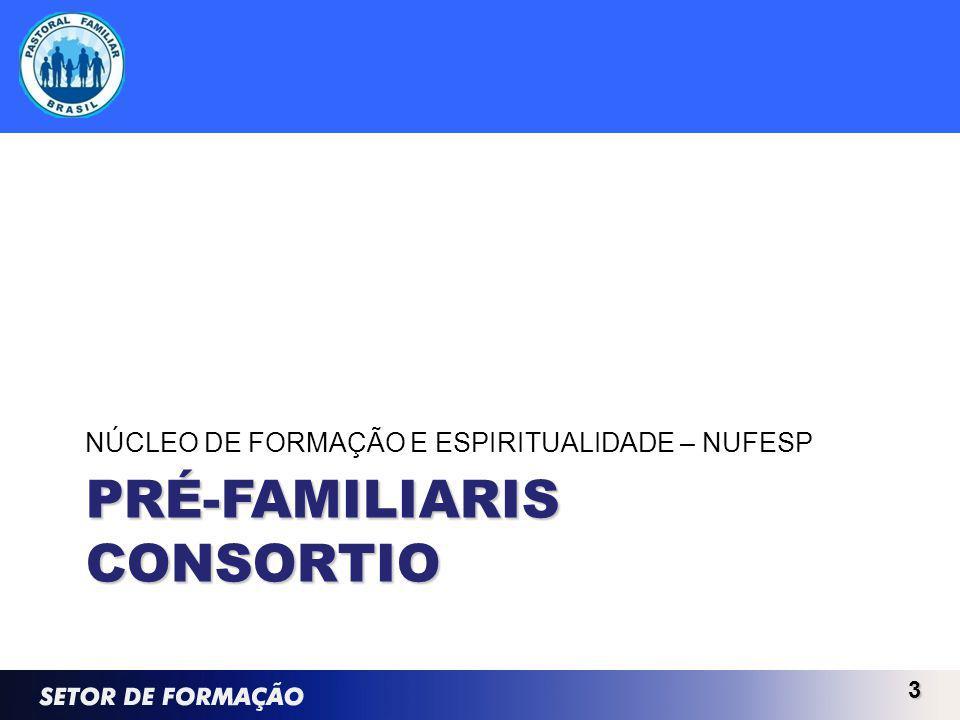 PRÉ-FAMILIARIS CONSORTIO NÚCLEO DE FORMAÇÃO E ESPIRITUALIDADE – NUFESP 3
