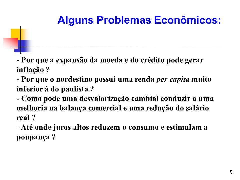 19 Problemas econômicos fundamentais Principio 2: O custo de alguma coisa é aquilo de que se desiste para obtê-la Para se fazer uma escolha, é preciso sacrificar uma outra, isto é, existe um custo.