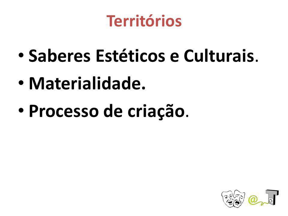 Territórios Saberes Estéticos e Culturais. Materialidade. Processo de criação.