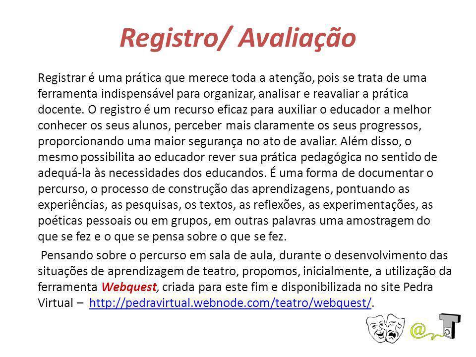 Registro/ Avaliação Registrar é uma prática que merece toda a atenção, pois se trata de uma ferramenta indispensável para organizar, analisar e reaval