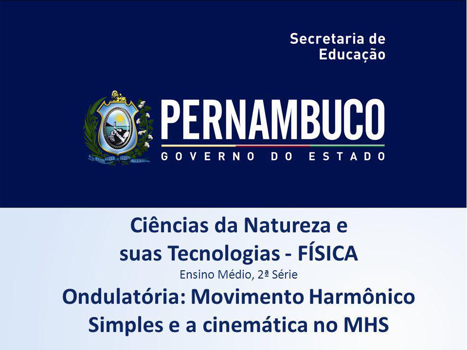 Ciências da Natureza e suas Tecnologias - FÍSICA Ensino Médio, 2ª Série Ondulatória: Movimento Harmônico Simples e a cinemática no MHS