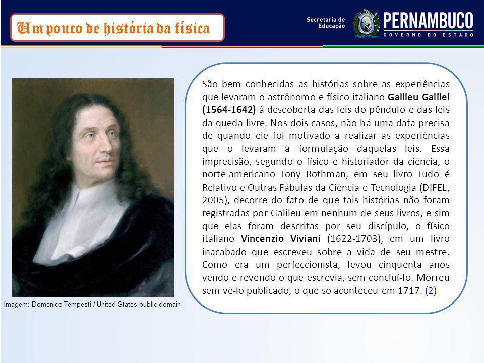 São bem conhecidas as histórias sobre as experiências que levaram o astrônomo e físico italiano Galileu Galilei (1564-1642) à descoberta das leis do p