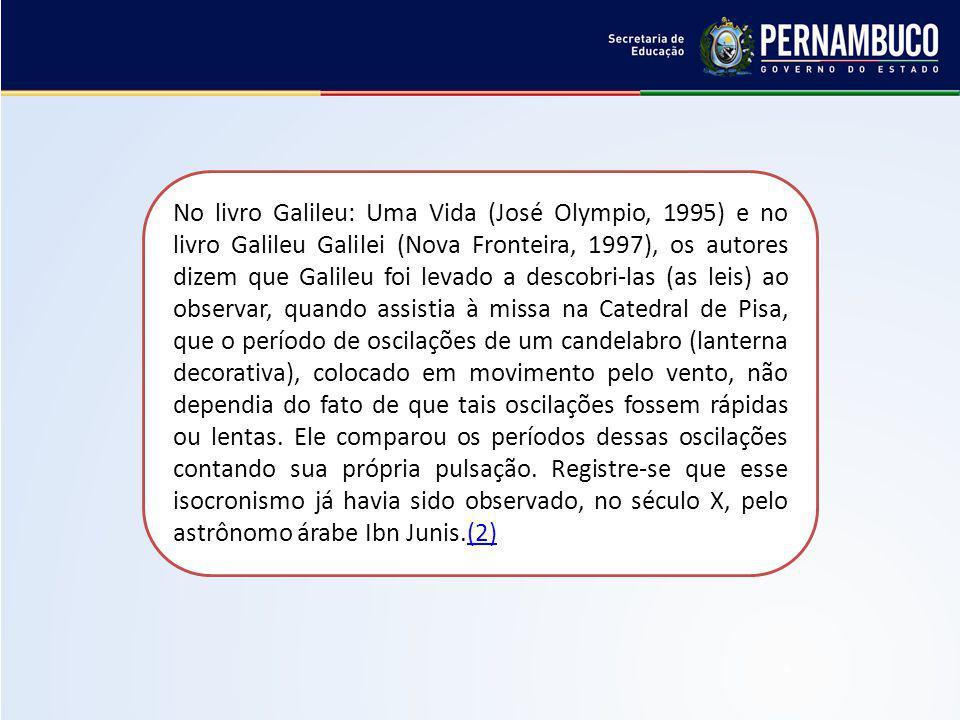 No livro Galileu: Uma Vida (José Olympio, 1995) e no livro Galileu Galilei (Nova Fronteira, 1997), os autores dizem que Galileu foi levado a descobri-