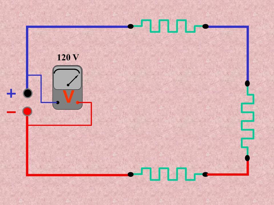 120 V 20 V 40 V 60 V 2 A A corrente é a mesma e a tensão se divide entre as resistências A corrente é a mesma e a tensão se divide entre as resistências