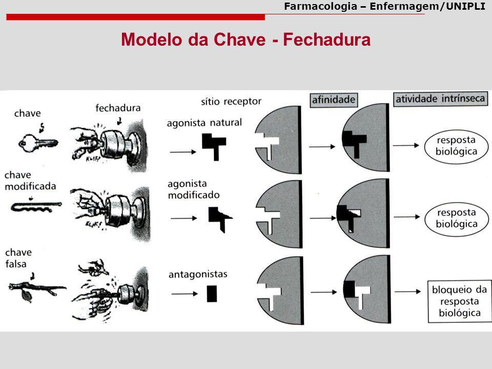Farmacologia – Enfermagem/UNIPLI Modelo da Chave - Fechadura