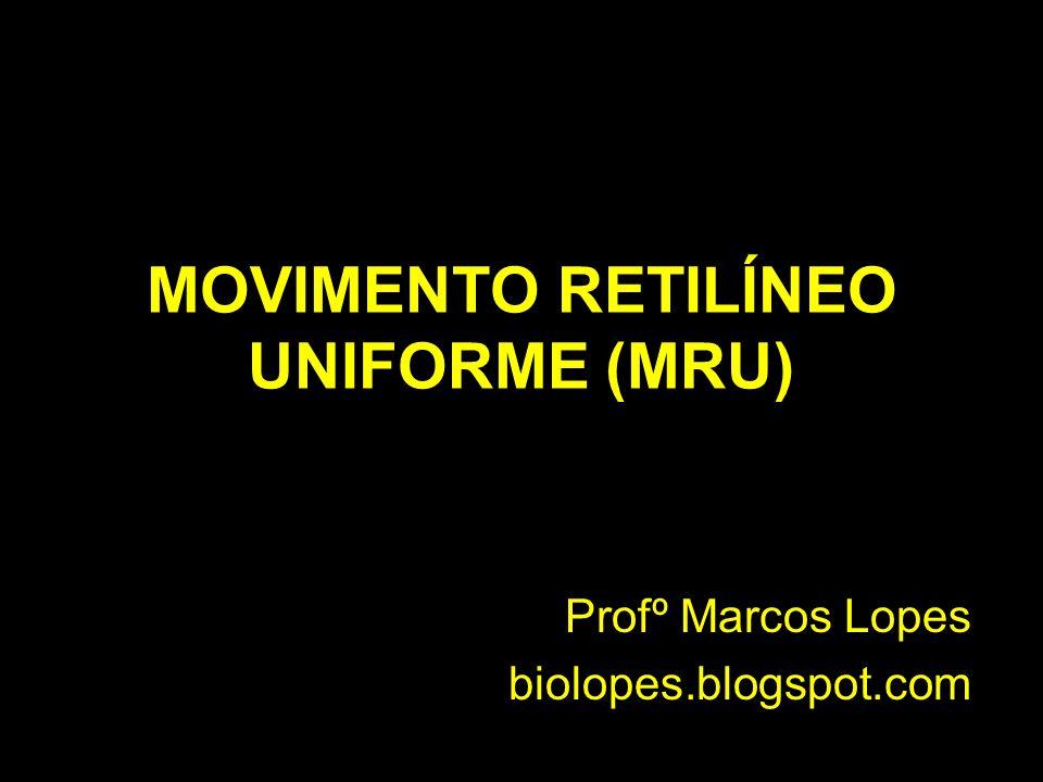 MOVIMENTO RETILÍNEO UNIFORME (MRU) Profº Marcos Lopes biolopes.blogspot.com