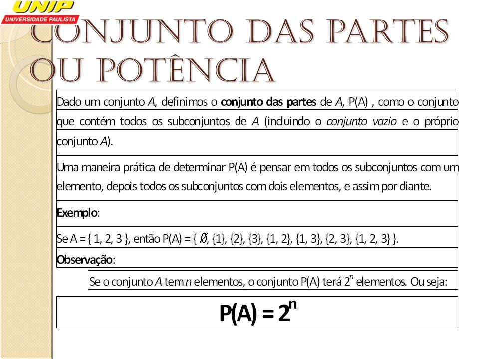 Conjunto das partes ou potência