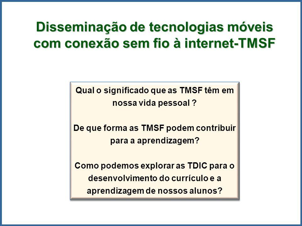 Qual o significado que as TMSF têm em nossa vida pessoal ? De que forma as TMSF podem contribuir para a aprendizagem? Como podemos explorar as TDIC pa