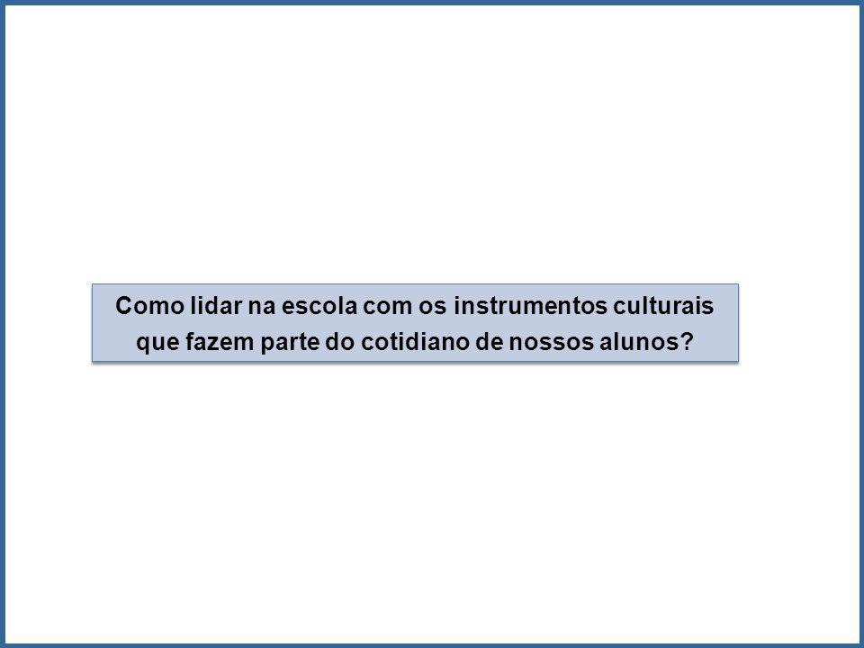 Como lidar na escola com os instrumentos culturais que fazem parte do cotidiano de nossos alunos?