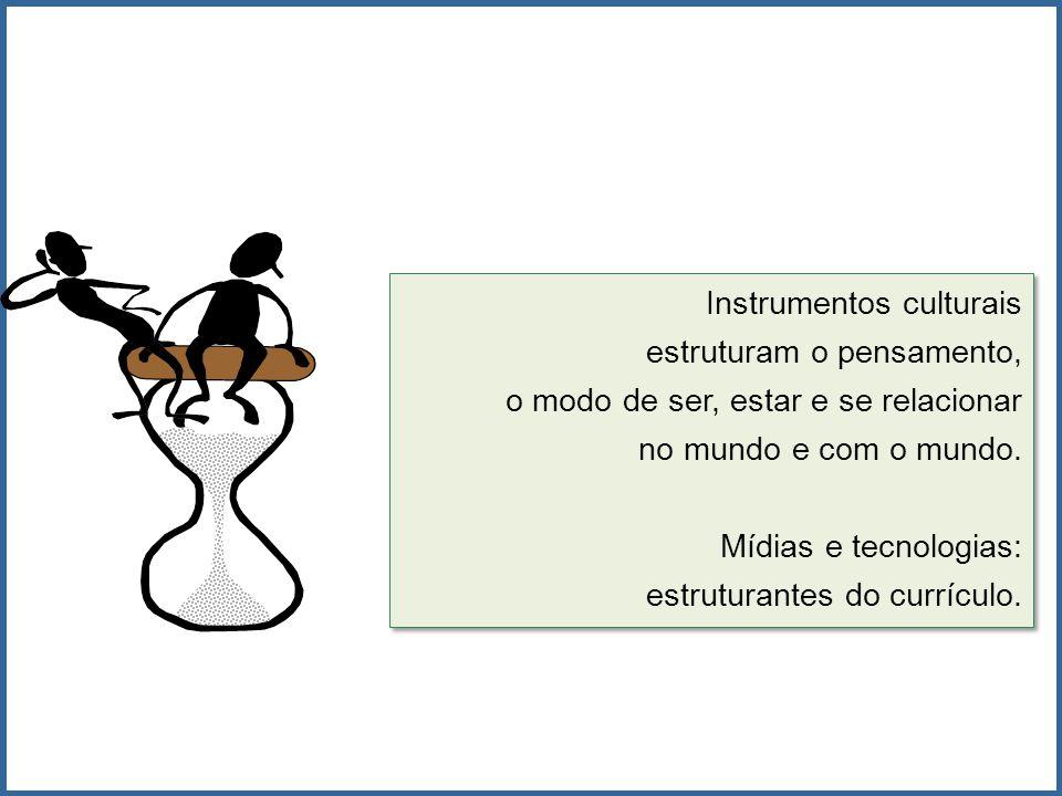 Instrumentos culturais estruturam o pensamento, o modo de ser, estar e se relacionar no mundo e com o mundo. Mídias e tecnologias: estruturantes do cu