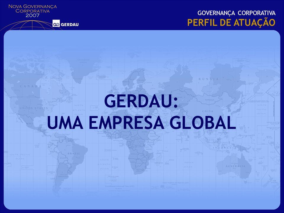 GOVERNANÇA CORPORATIVA PERFIL DE ATUAÇÃO GERDAU: UMA EMPRESA GLOBAL