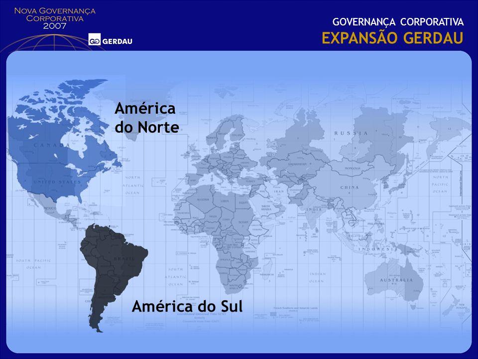 GOVERNANÇA CORPORATIVA EXPANSÃO GERDAU América do Sul América do Norte