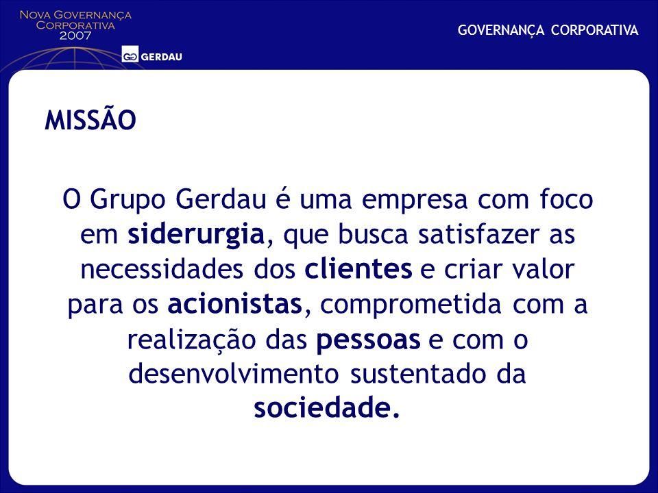 O Grupo Gerdau é uma empresa com foco em siderurgia, que busca satisfazer as necessidades dos clientes e criar valor para os acionistas, comprometida