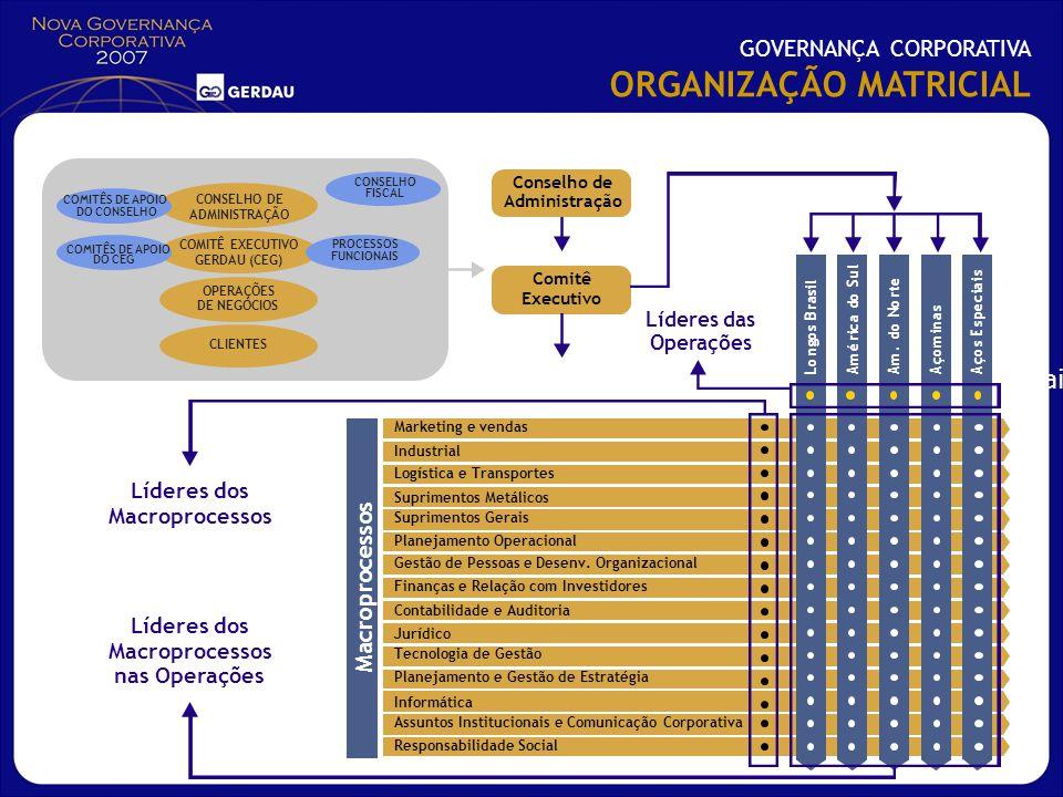 Longos BrasilAmérica do SulAm. do NorteAçominasAços Especiais Informática Assuntos Institucionais e Comunicação Corporativa Responsabilidade Social Co