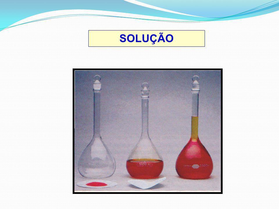 SOLUÇAO SUPERSATURADA Solução com quantidade de substância dissolvida maior que a solução saturada.