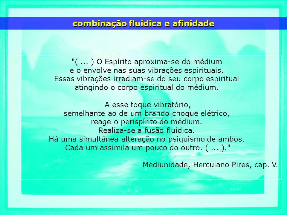 (...) O Espírito aproxima-se do médium e o envolve nas suas vibrações espirituais.