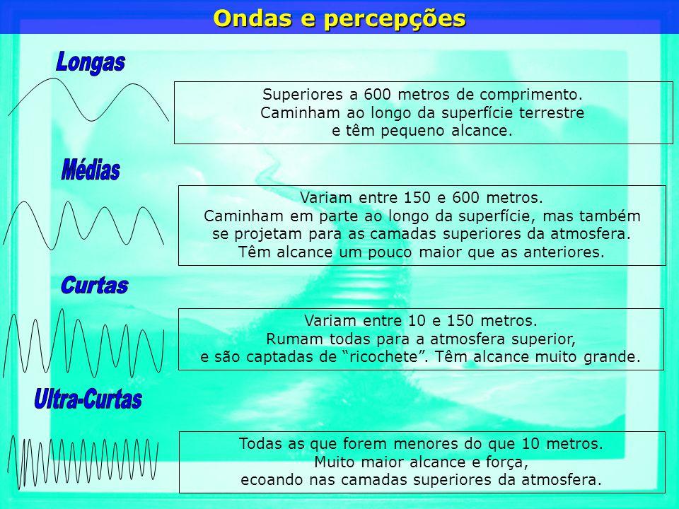 Superiores a 600 metros de comprimento. Caminham ao longo da superfície terrestre e têm pequeno alcance. Variam entre 150 e 600 metros. Caminham em pa