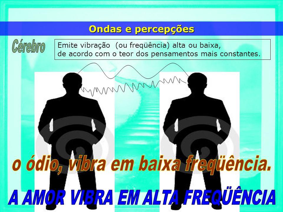 Emite vibração (ou freqüência) alta ou baixa, de acordo com o teor dos pensamentos mais constantes. Ondas e percepções