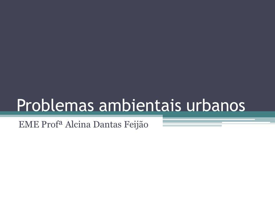 Problemas ambientais urbanos EME Profª Alcina Dantas Feijão