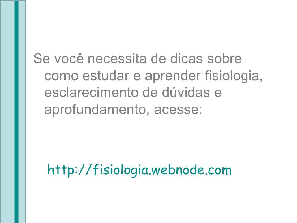 Se você necessita de dicas sobre como estudar e aprender fisiologia, esclarecimento de dúvidas e aprofundamento, acesse: http://fisiologia.webnode.com