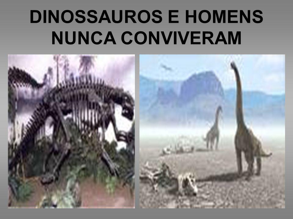 DINOSSAUROS E HOMENS NUNCA CONVIVERAM