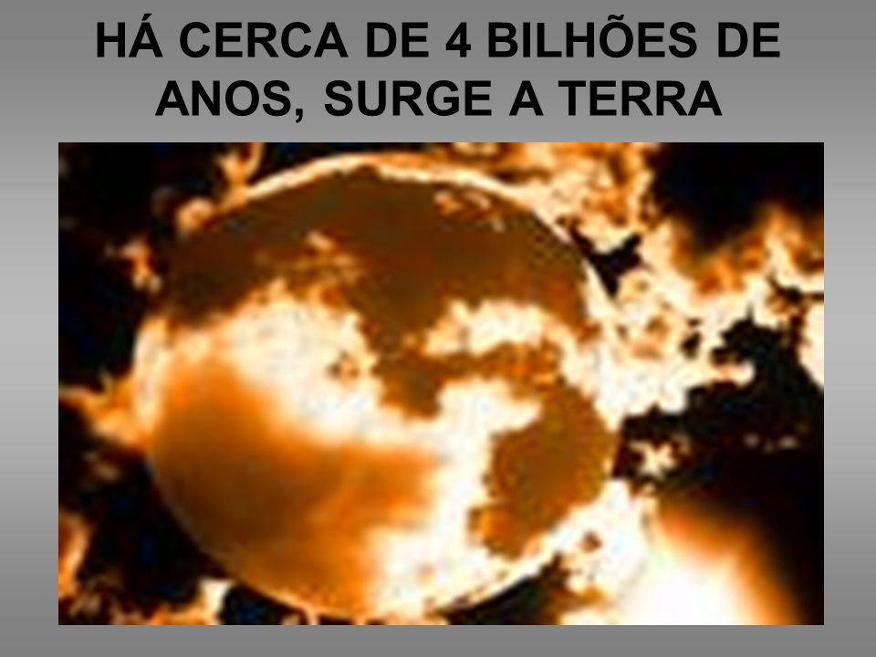 HÁ CERCA DE 4 BILHÕES DE ANOS, SURGE A TERRA