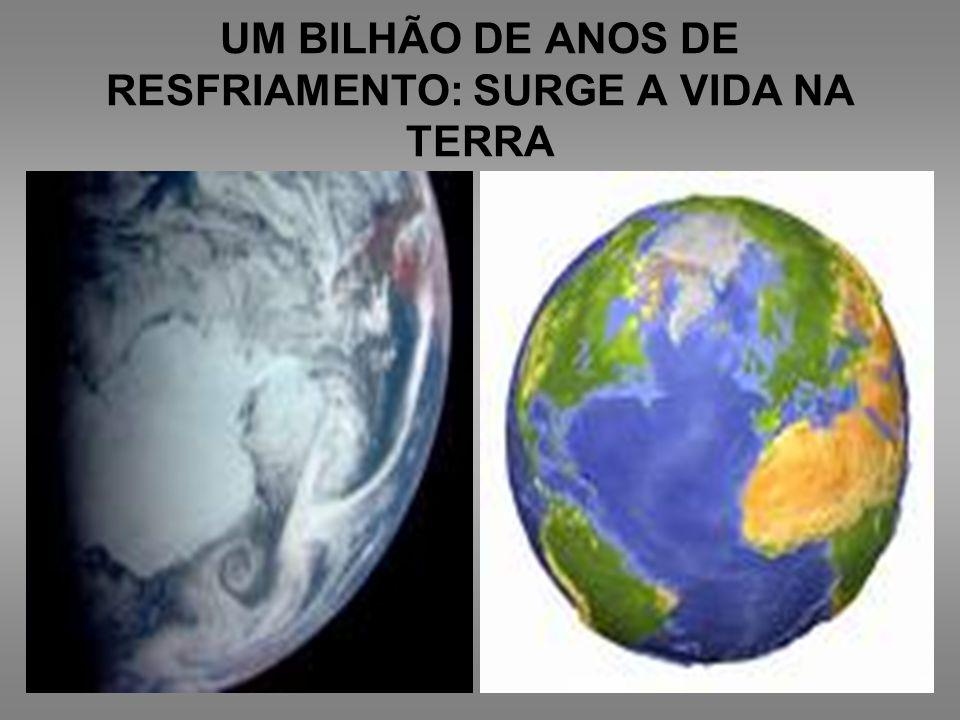 UM BILHÃO DE ANOS DE RESFRIAMENTO: SURGE A VIDA NA TERRA