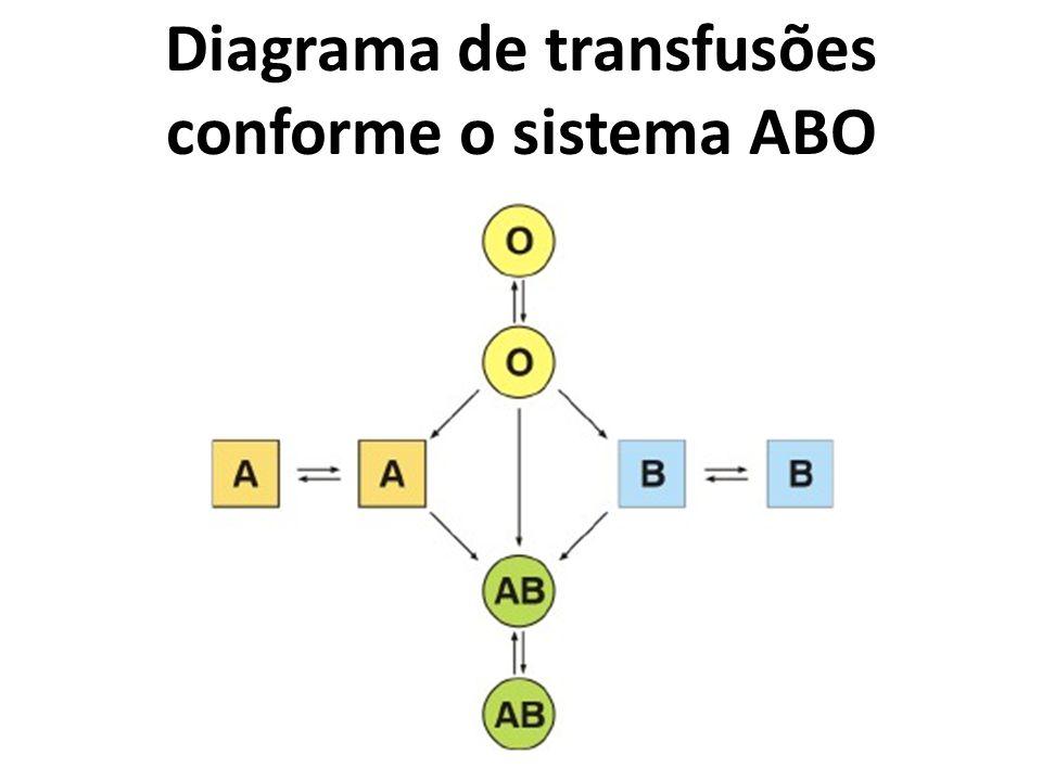 Diagrama de transfusões conforme o sistema ABO