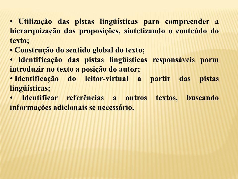 HABILIDADES A SEREM EXPLORADAS DEPOIS DA LEITURA INTEGRAL DO TEXTO.