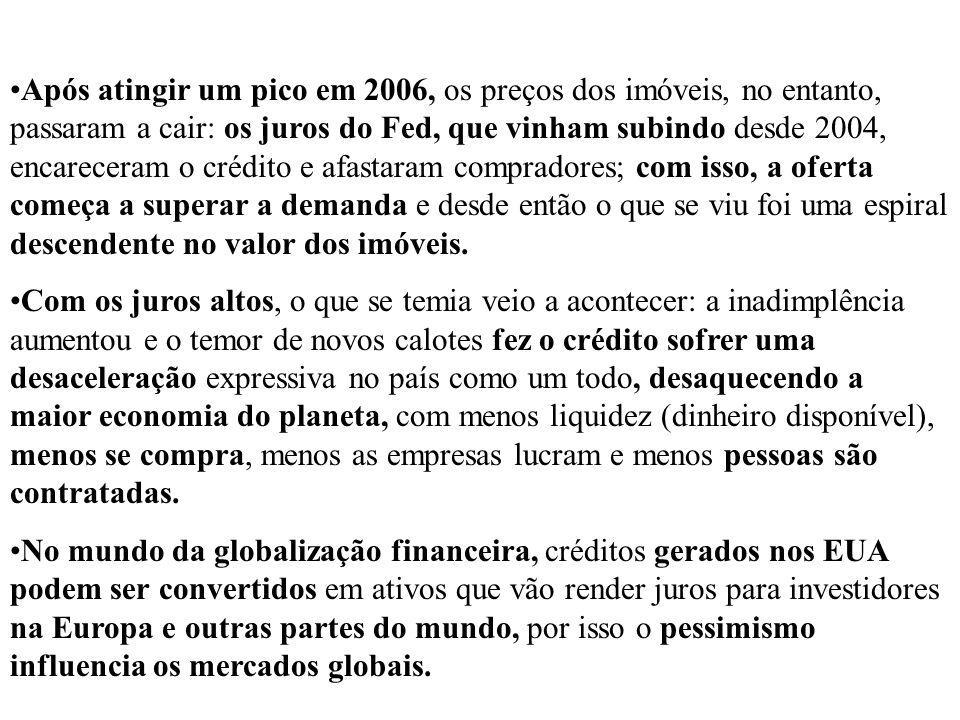 FINANCIADORAS Em setembro do ano passado, o BNP Paribas Investment Partners, divisão do banco francês BNP Paribas, congelou cerca de 2 bilhões de euros dos fundos Parvest Dynamic ABS, o BNP Paribas ABS Euribor e o BNP Paribas ABS Eonia, citando preocupações sobre o setor de crédito subprime (de maior risco) nos EUA.