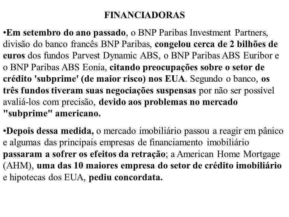 FINANCIADORAS Em setembro do ano passado, o BNP Paribas Investment Partners, divisão do banco francês BNP Paribas, congelou cerca de 2 bilhões de euro