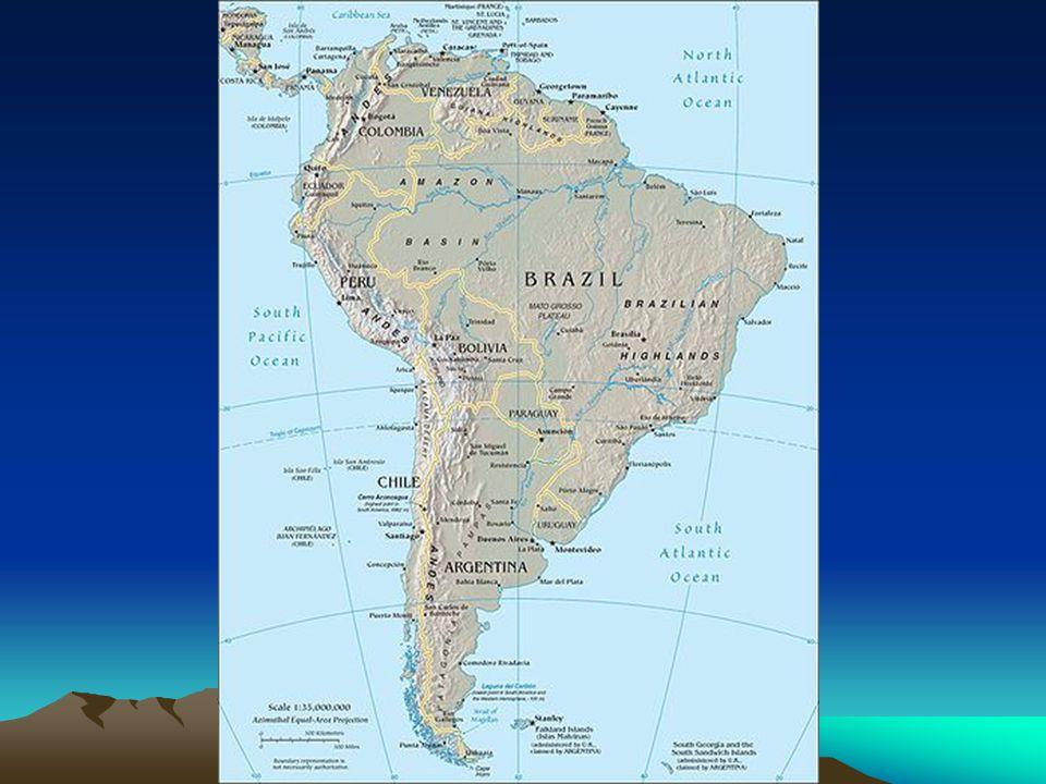 América Andina - Países Andinos com características diferenciadas; -extrativismo mineral presente em todos os países; - Agricultura precária na maioria dos países andinos com exceção do Chile – frutas e vitivinicultura do Chile,produção do café na Colômbia – café de qualidade e a soja na região fronteiriça da Bolívia com o Brasil