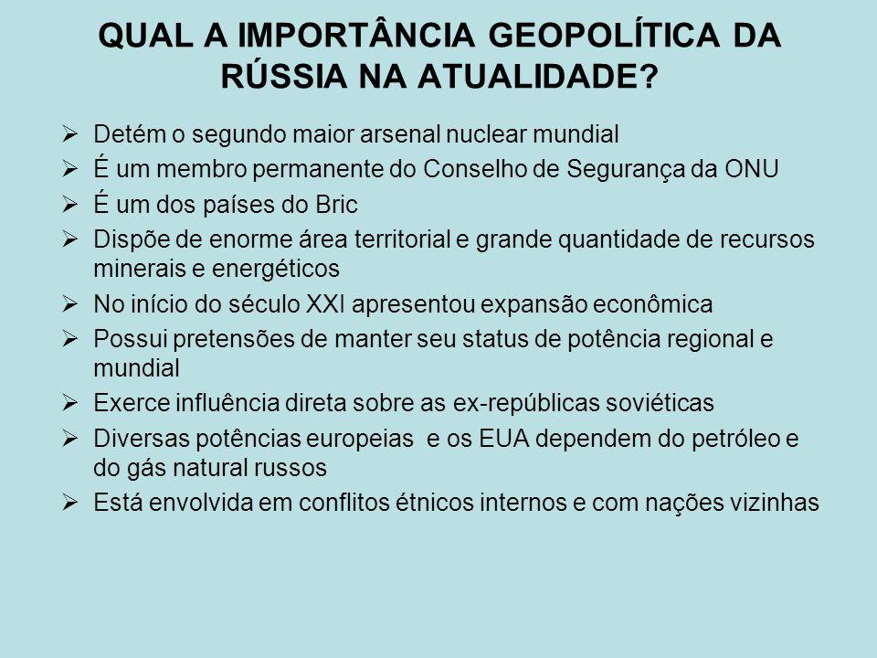 QUAL A IMPORTÂNCIA GEOPOLÍTICA DA RÚSSIA NA ATUALIDADE.