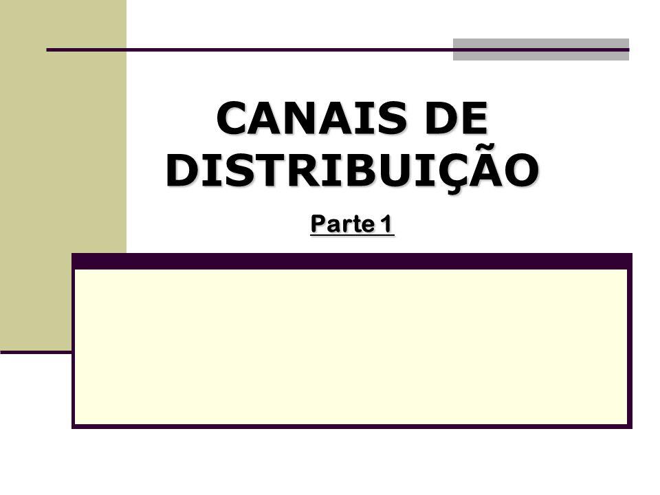 CANAIS DE DISTRIBUIÇÃO Canais Verticais - características Responsabilidade pela comercialização: a preocupação principal neste modelo é a de repassar as responsabilidades da comercialização das mercadorias aos componentes seguintes no processo da cadeia de abastecimento;