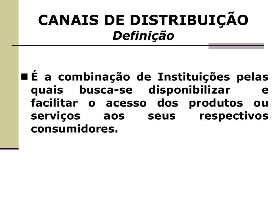 É a combinação de Instituições pelas quais busca-se disponibilizar e facilitar o acesso dos produtos ou serviços aos seus respectivos consumidores.