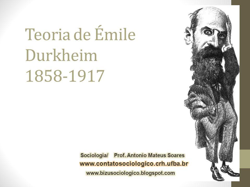 Biografia -Émile Durkheim nasceu na cidade de Épinal (região de Lorena-França) no dia 15 de abril de 1858.