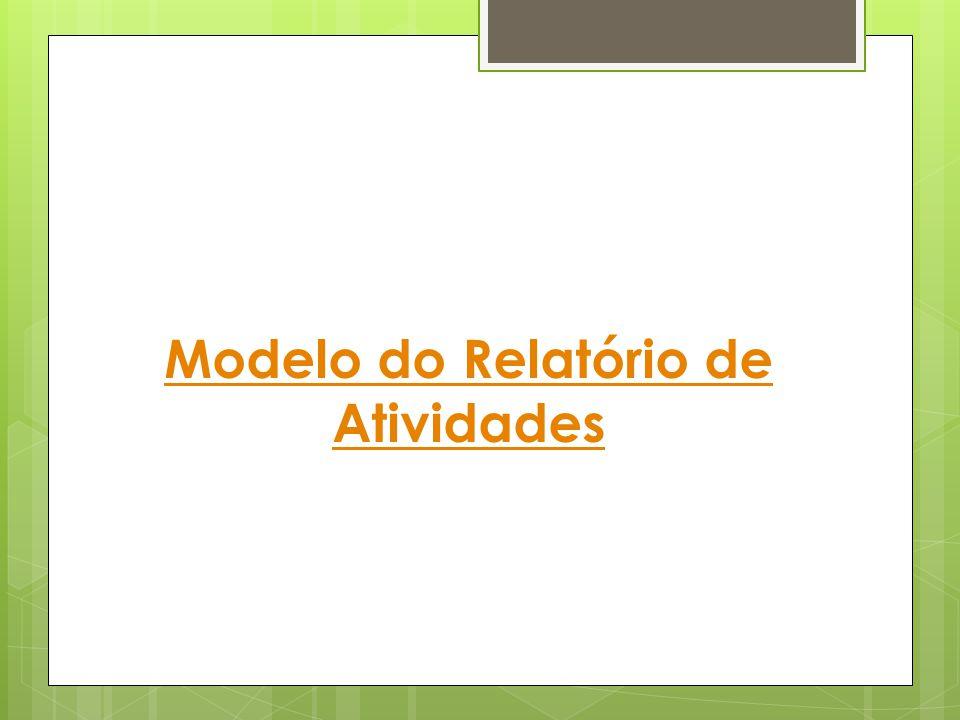 Modelo do Relatório de Atividades