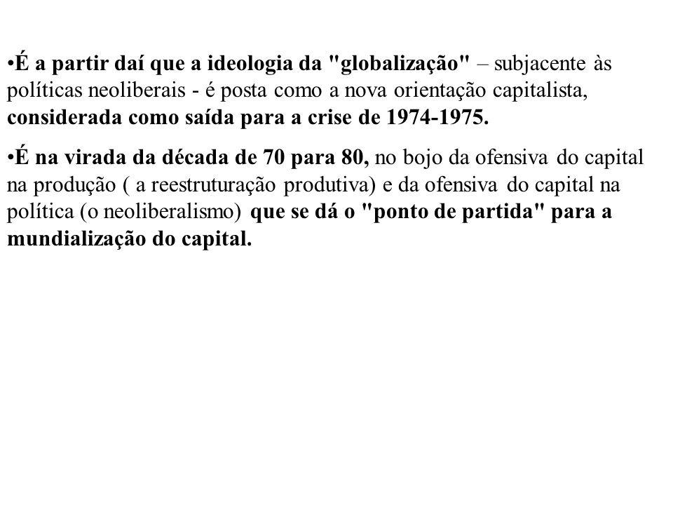 O capital industrial e as finanças Em primeiro lugar, a grande indústria procurou efetuar operações de valorização do capital na esfera financeira, tanto para contrariar os movimentos estratégicos dos grandes operadores financeiros, quanto para se beneficiar dos ganhos fáceis oferecidos pelas finanças.