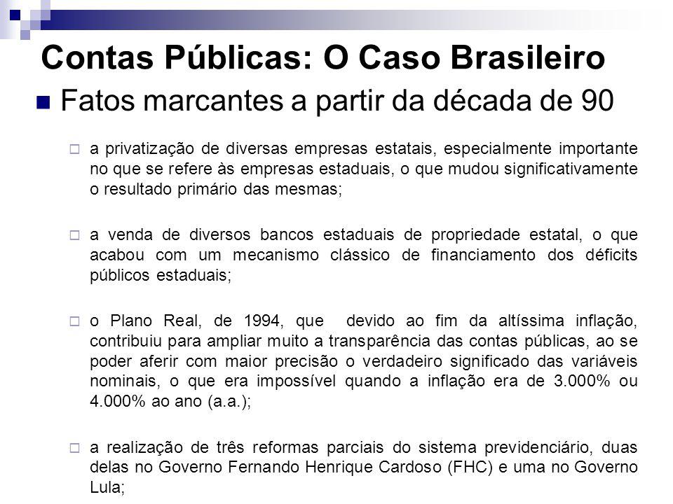 Fatos marcantes a partir da década de 90 a privatização de diversas empresas estatais, especialmente importante no que se refere às empresas estaduais