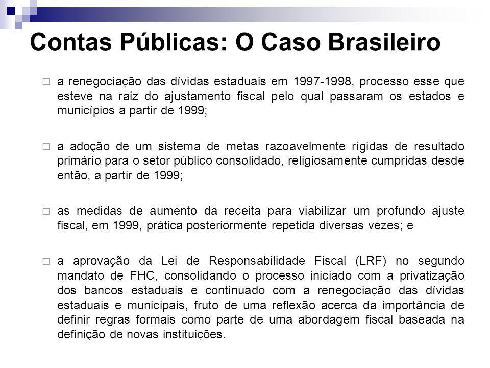 a renegociação das dívidas estaduais em 1997-1998, processo esse que esteve na raiz do ajustamento fiscal pelo qual passaram os estados e municípios a