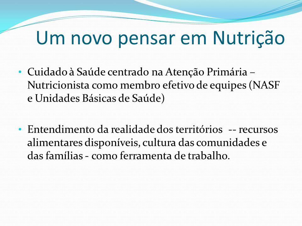 Um novo pensar em Nutrição Cuidado à Saúde centrado na Atenção Primária – Nutricionista como membro efetivo de equipes (NASF e Unidades Básicas de Saú